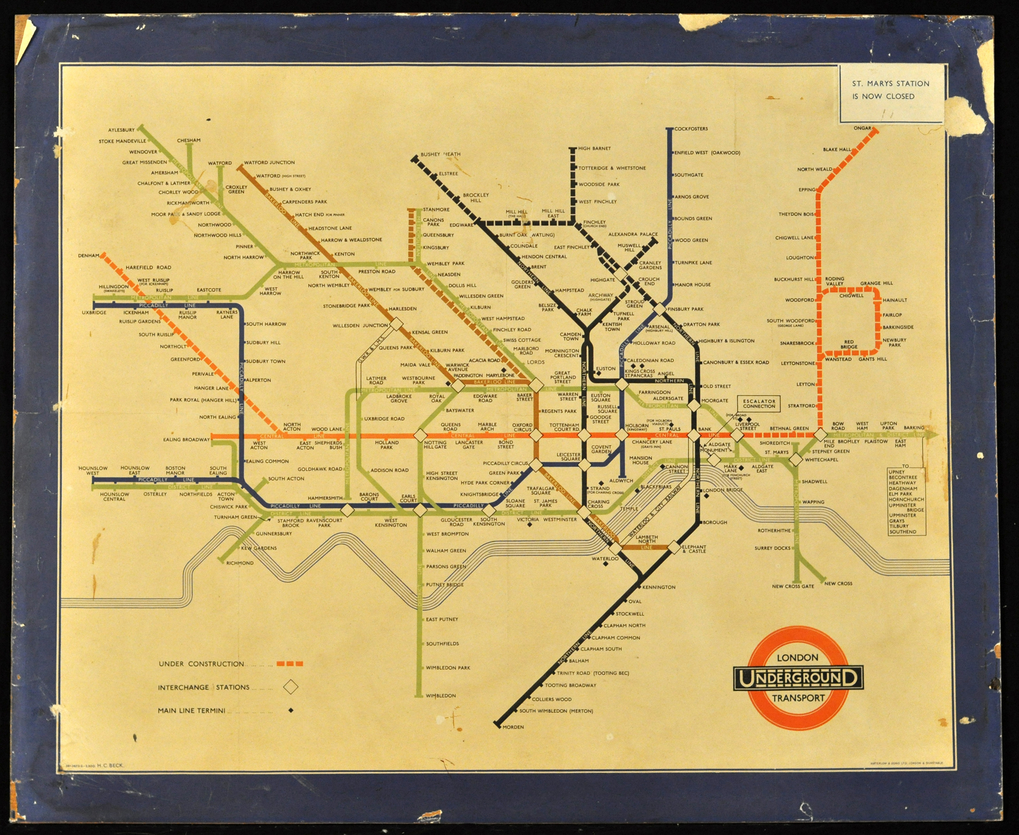 London Underground map Before u2022 After The
